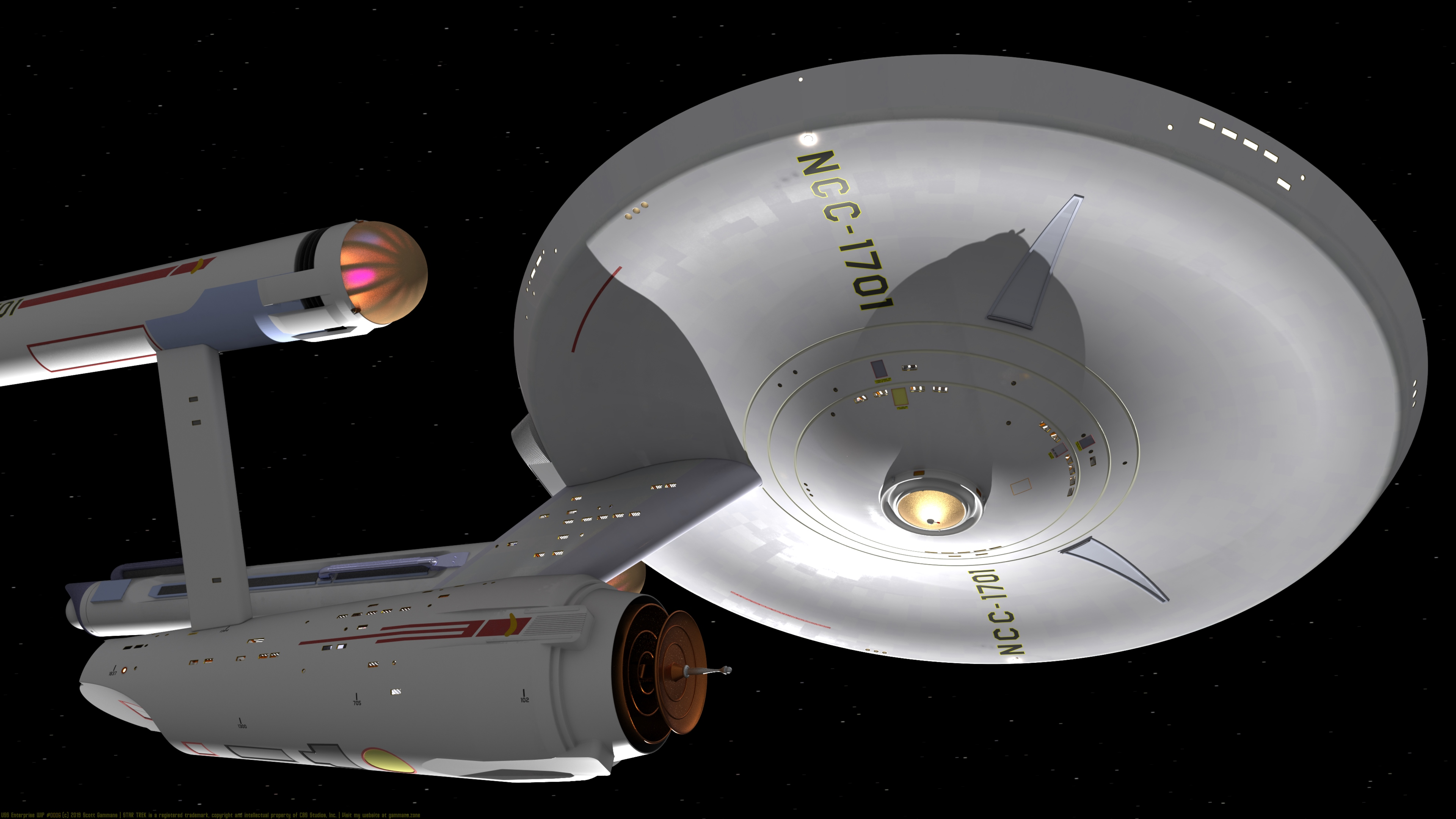 USS Enterprise WIP #0003