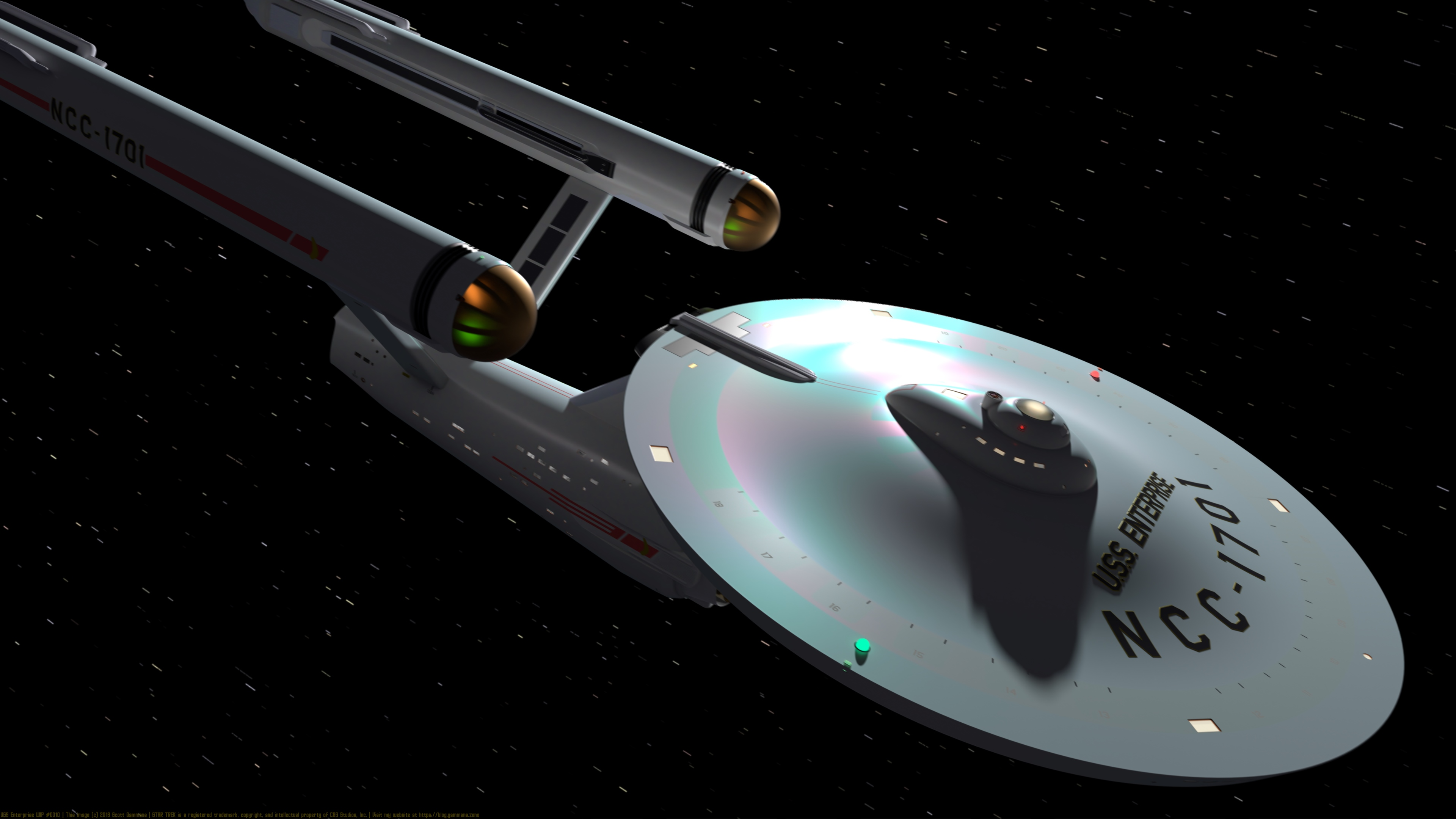 USS Enterprise WIP #0010 - 9 July 2019