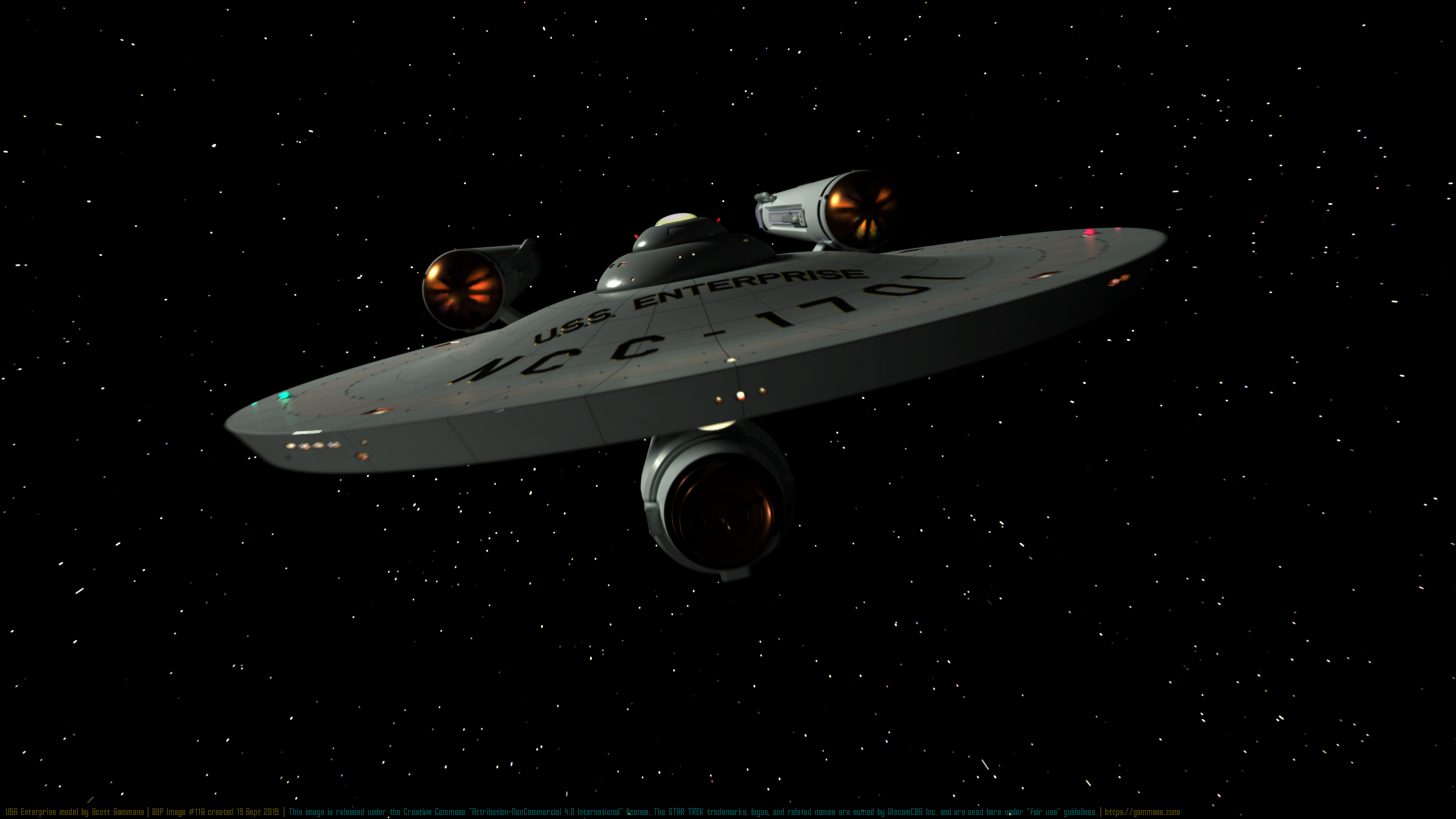 USS Enterprise WIP Test #116 September 19, 2019