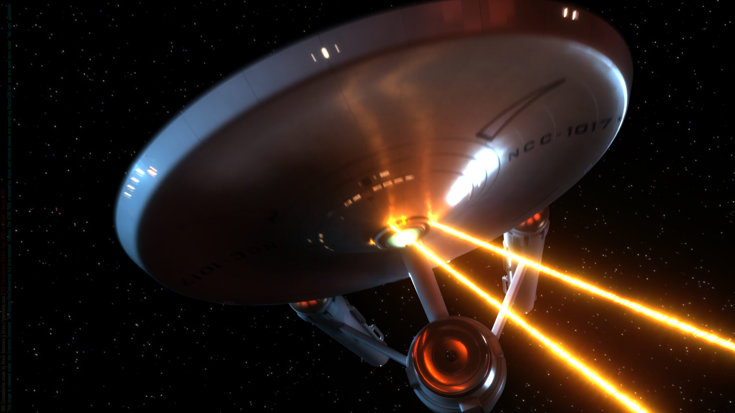 The Starship Constellation fires her forward phaser banks (image 1 of 4)