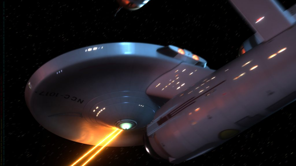 The Starship Constellation fires her forward phaser banks (image 2 of 4)