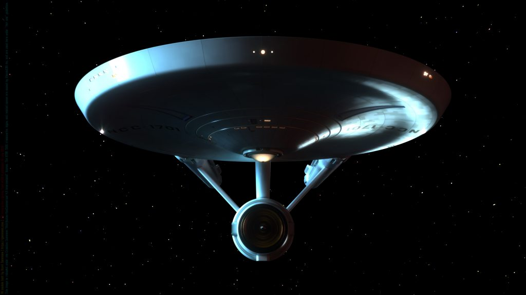 USS Enterprise Lighting Test #130-B July 18, 2020