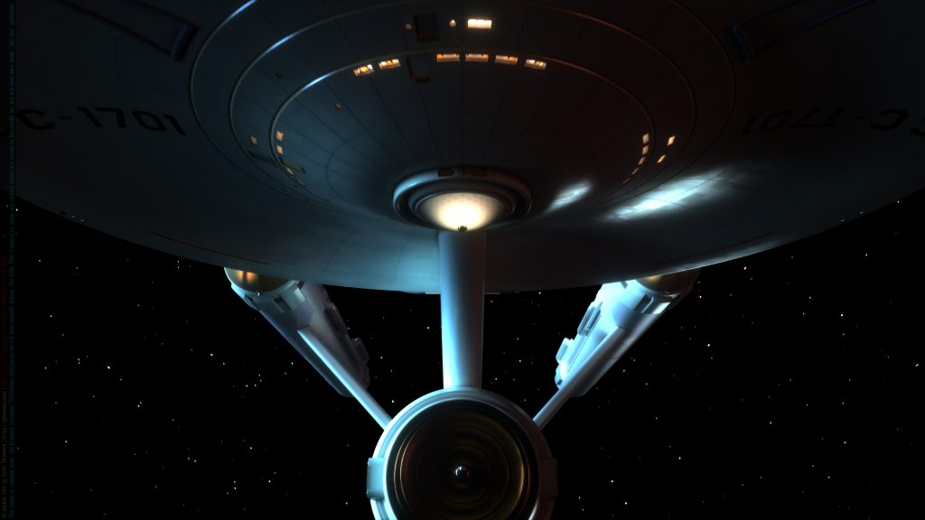 USS Enterprise Lighting Test #130-C July 18, 2020