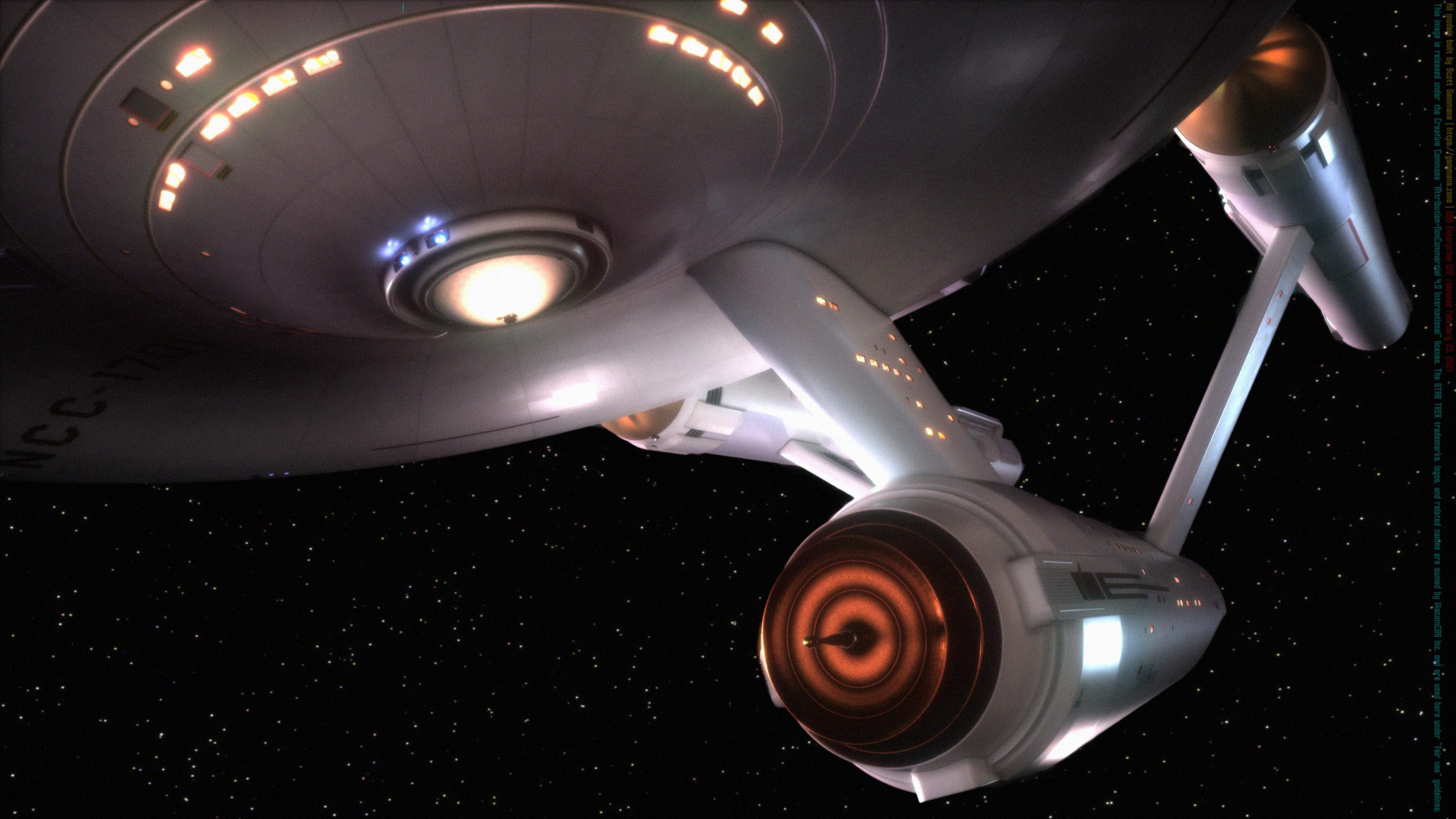 The Starship Enterprise prepares to fire February 23, 2021